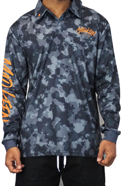 Grey Brand Camo Long sleeve polo