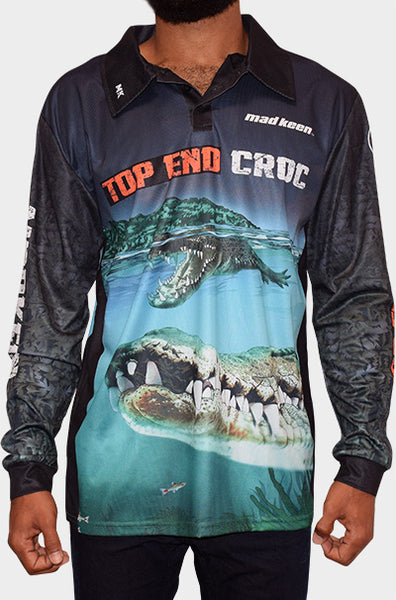 Top End Croc Long Sleeve Polo