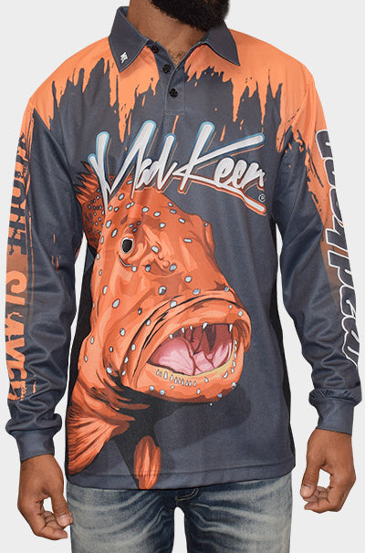 Coral Trout Long Sleeve Polo