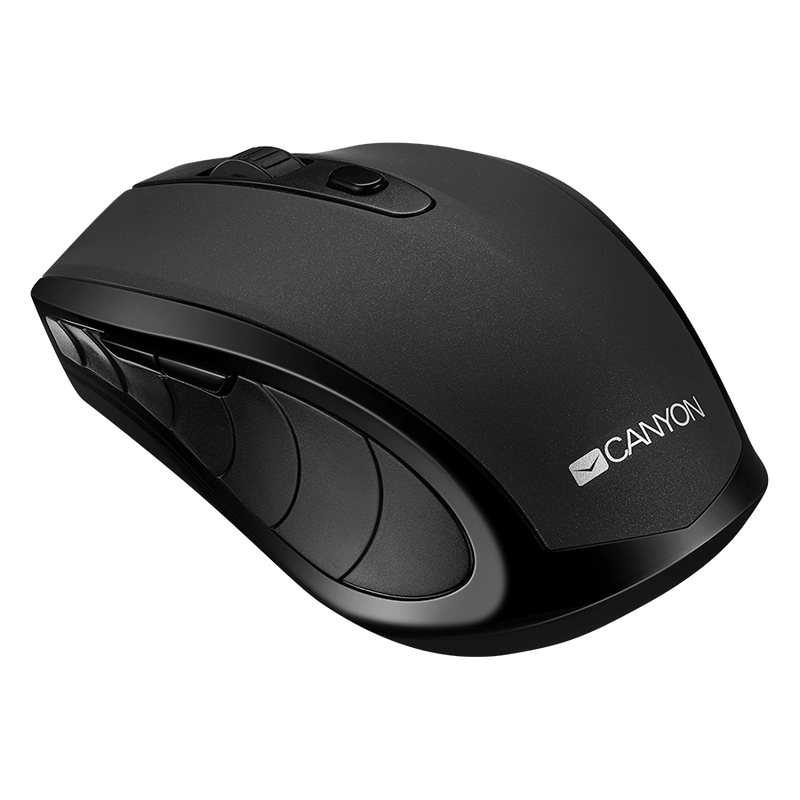 Canyon Wireless Bluetooth Mouse 6 Button - Black - Batteries included