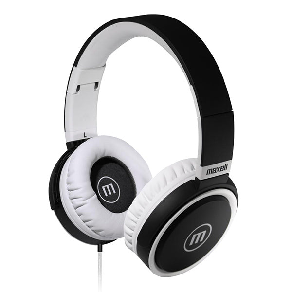Maxell HP-B52 Full size Headphone with Microphone - BLACK/WHITE