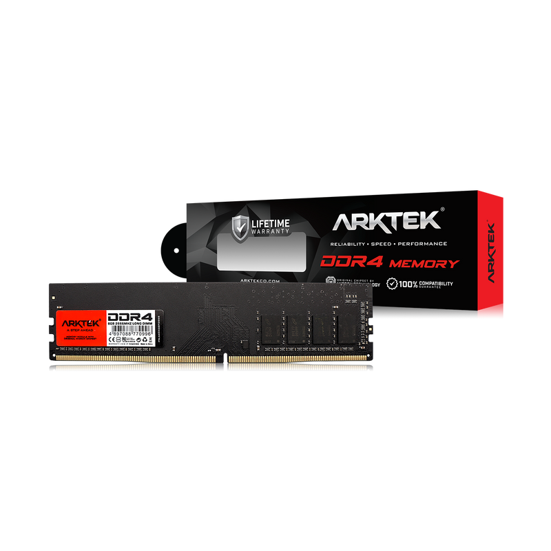 Arktek Memory 8GB DDR4 PC-2666 DIMM RAM Module for PC