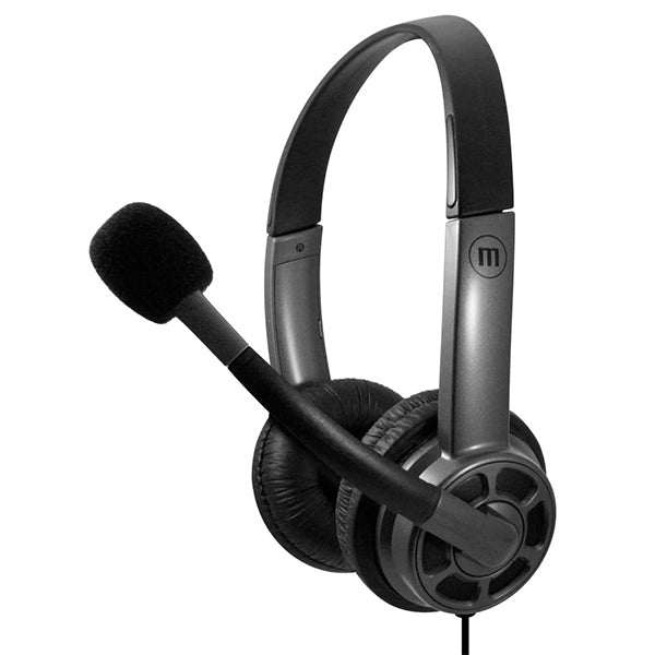 Maxell HS-HMIC Mid Size USB Headset with BOOM Microphone