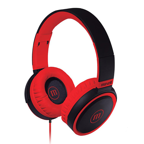 Maxell HP-B52 Full size Headphone with Microphone - BLACK/RED