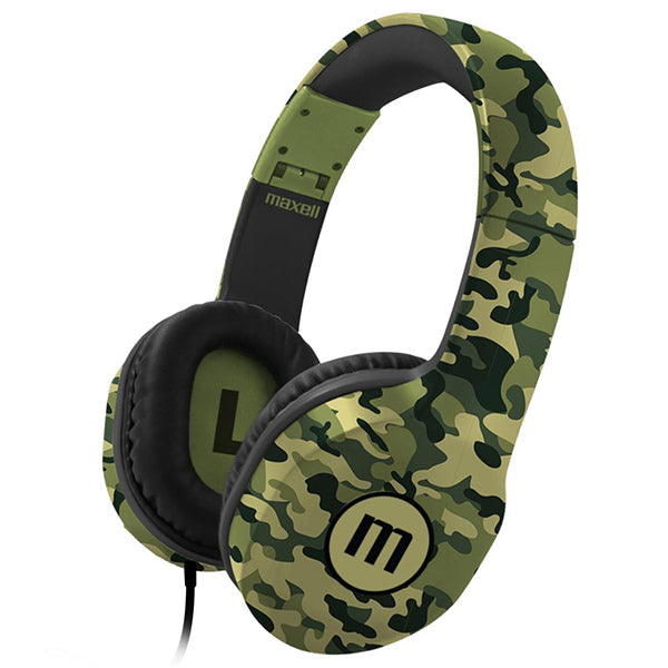 Maxell BIG-660 Full size Headphones with Microphone - Camo