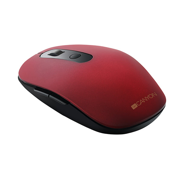 Canyon Slim Wireless Bluetooth Mouse 6 Button - Red - Batteries included