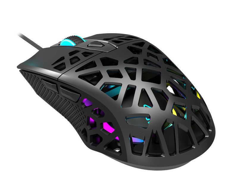 Canyon Puncher Gaming Mouse 7 Buttons Pixart 3360 Sensor RGB Lights Black