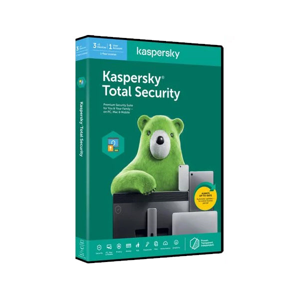 Kaspersky 2020 Total Security 4 devices (1 year) DVD box