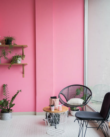 Pop of color in home for mood boost.