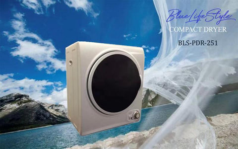 2.5 kg 5.5 LBS 1.65 cb ft 110V Compact Apartment Laundry Dryer White