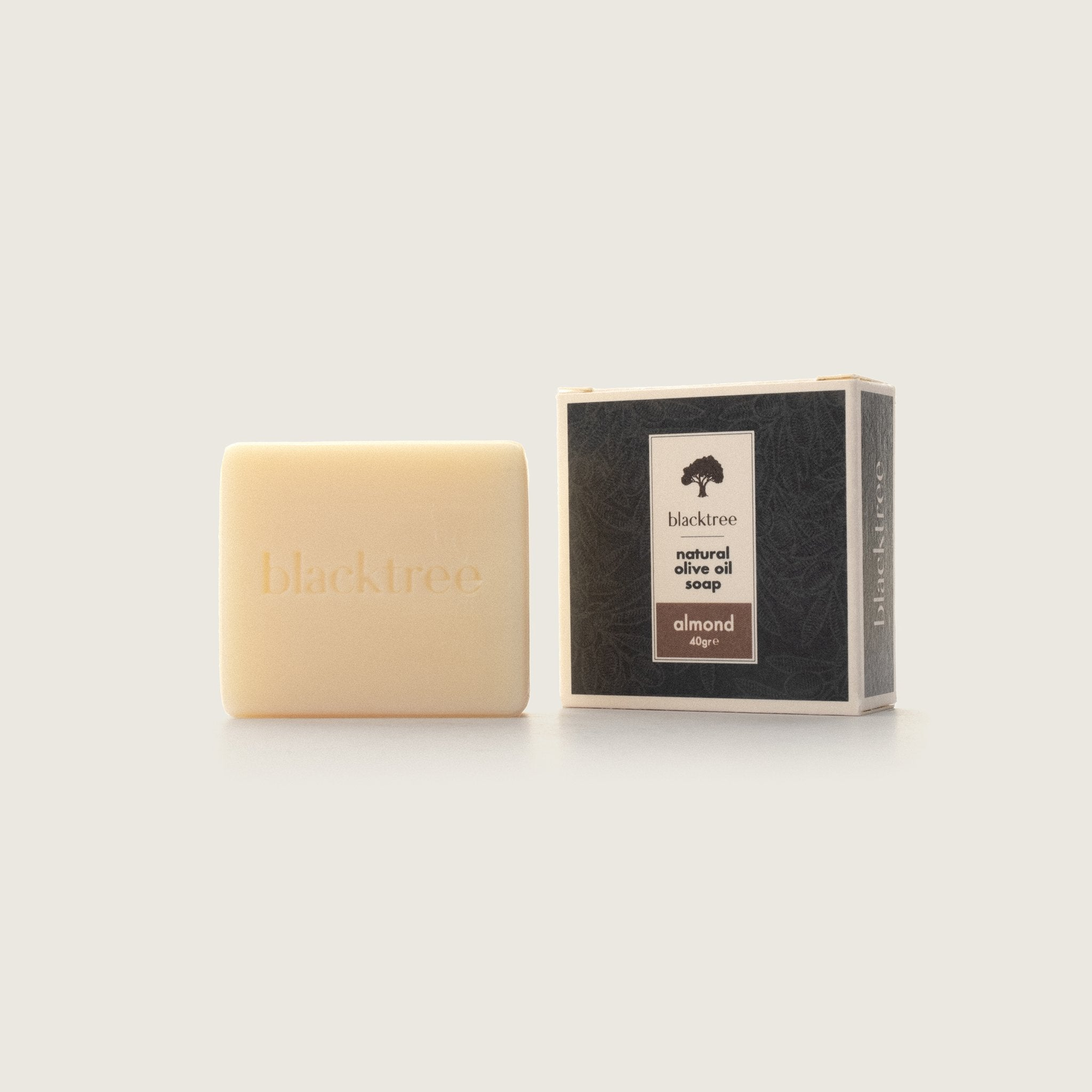 Natural Olive Oil Soap - Almond - 40gr (Bar Soap) - Blacktree Naturals