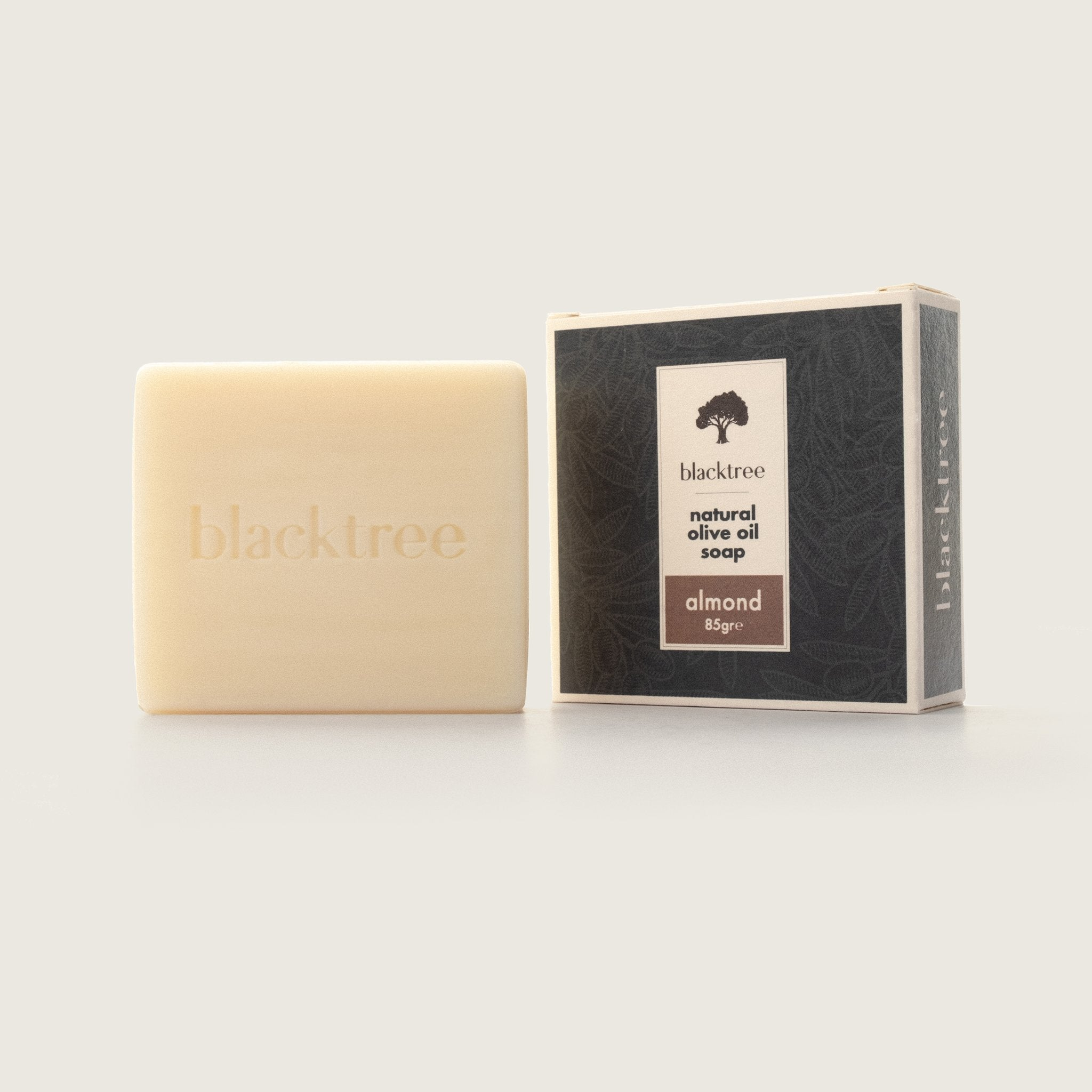 Natural Olive Oil Soap - Almond - 85gr (Bar Soap) - Blacktree Naturals
