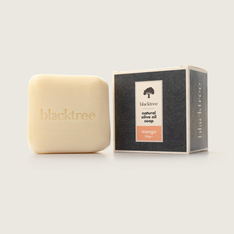 Natural Olive Oil Soap - Mango - 150gr (Stone Soap) - Blacktree Naturals