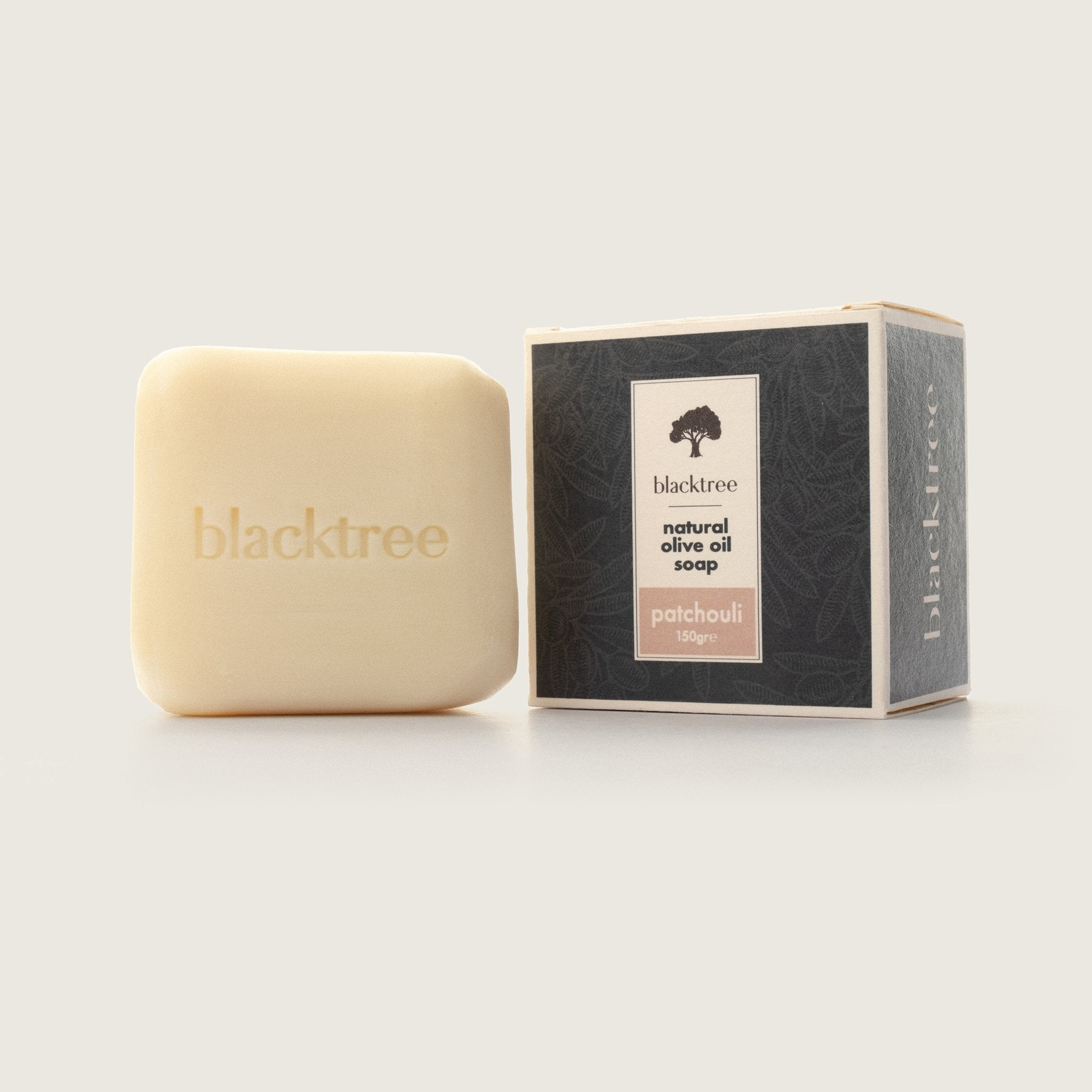 Natural Olive Oil Soap - Patchouli - 150gr (Stone Soap) - Blacktree Naturals