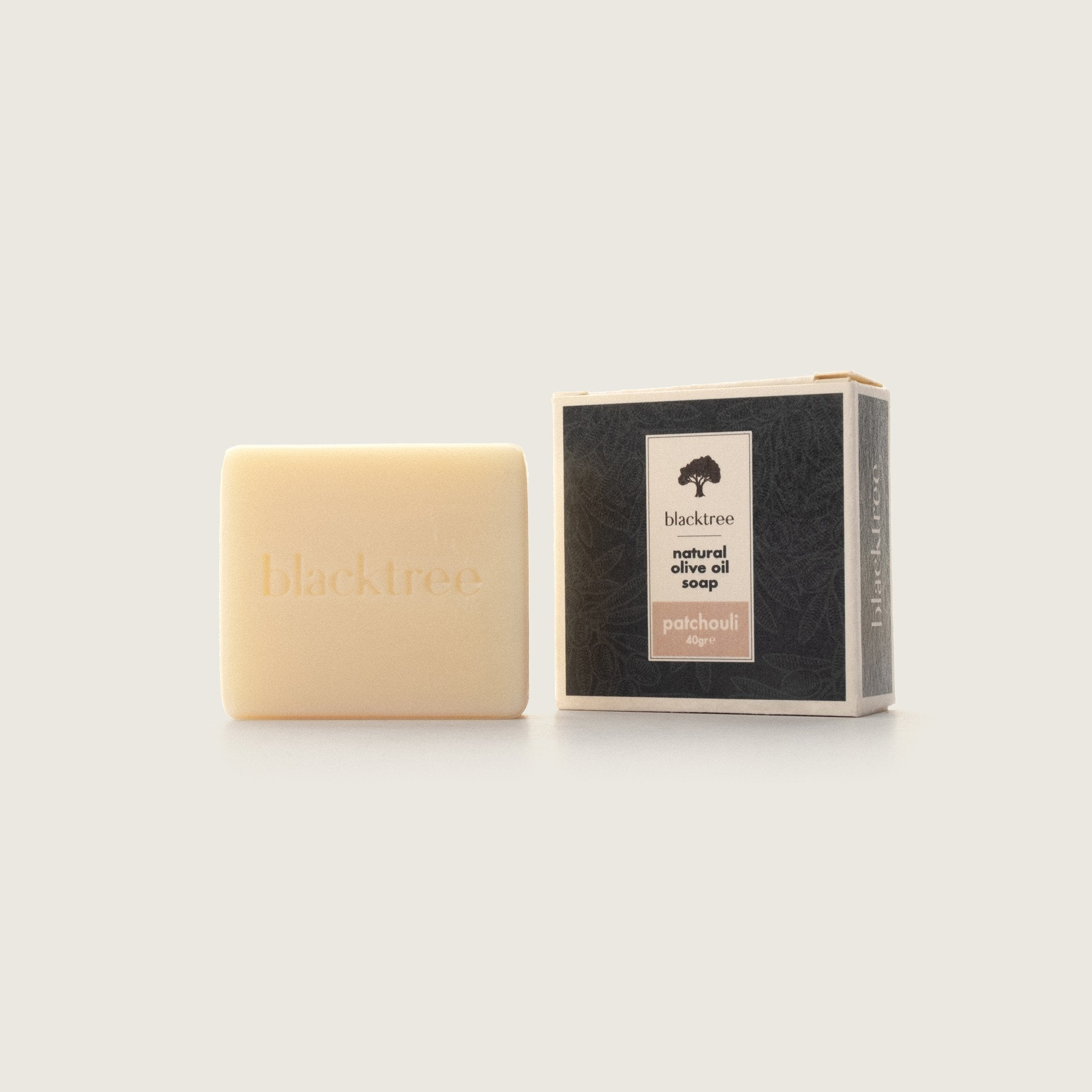 Natural Olive Oil Soap - Patchouli - 40gr (Bar Soap) - Blacktree Naturals
