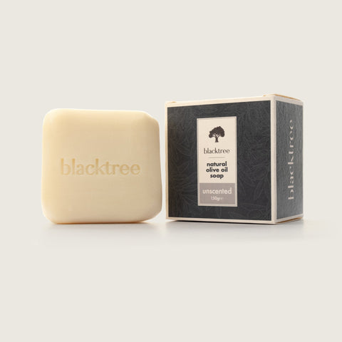 Natural Olive Oil Soap - Unscented - 150gr (Stone Soap) - Blacktree Naturals