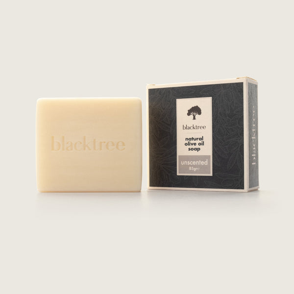Natural Olive Oil Soap - Unscented - 85gr (Bar Soap) - Blacktree Naturals