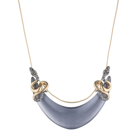 Alexis Bittar Double Coiled Snake Lucite Necklace