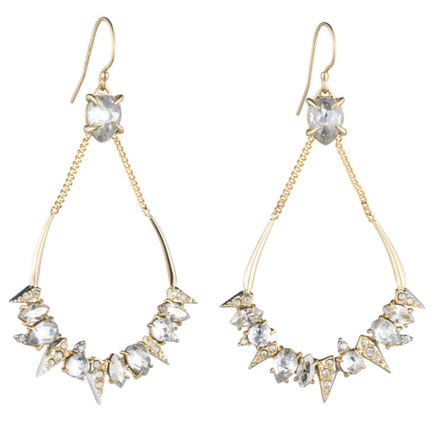 Alexis Bittar Spiked Pave Crystal Earrings