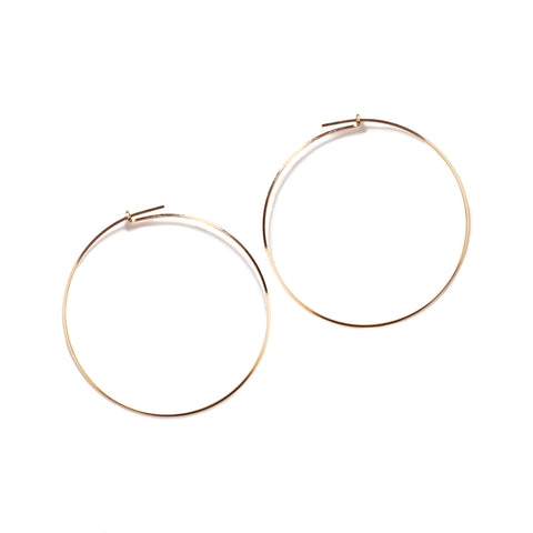 By Boe Gold Hoop Earrings -