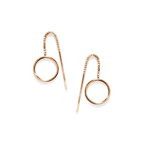 By Boe Small Pinned Circle Earrings