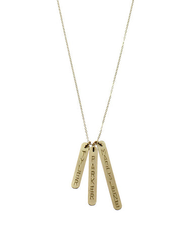 Nashelle 3-Bar Identity Necklace -  - 1