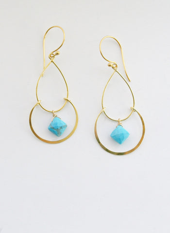 Lisa Dora Turquoise Chandelier Earrings