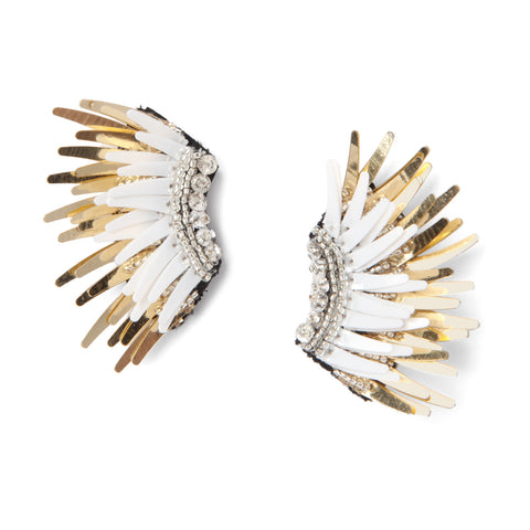 MIGNONNE GAVIGAN WHITE MINI MADELINE EARRINGS