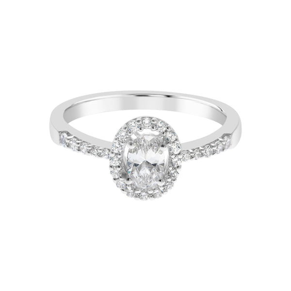 Oval Cluster Ring -