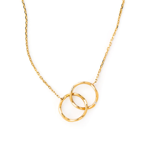 Loulerie Double Mini Wave Yellow Gold Necklace