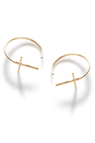 By Boe Cross Bar Earrings in Large