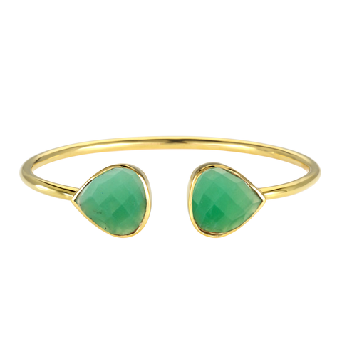 Margaret Elizabeth Chrysoprase Teardrop Bangle