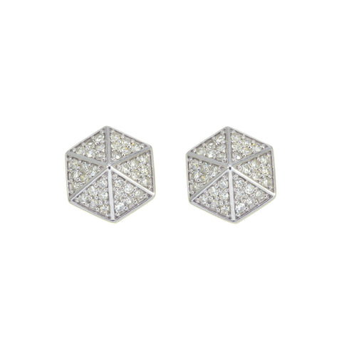 Zoe & Morgan Hexagon Diamond Earrings -  - 1