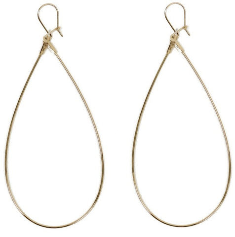 Loulerie Gold Teardrop Earrings
