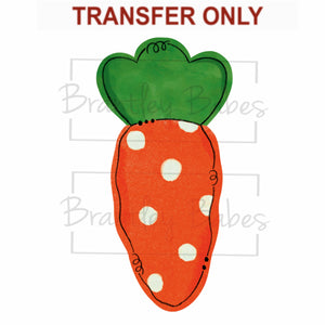 Polka Dot Carrot Sublimation Transfer