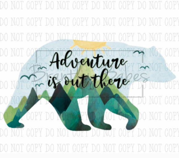 Adventure is Out There Bear Sublimation Transfer