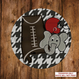 Alabama Tide Football Round Sublimation Transfer