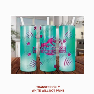 Blue & Pink Motherhood Walk in the Park Tumbler Sublimation Transfer