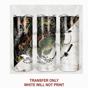 Camo Fish Tumbler Sublimation Transfer