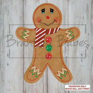 Gingerbread Boy with Buttons Sublimation Transfer
