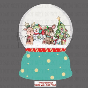 Patchwork Friends Snow Globe Sublimation Transfer