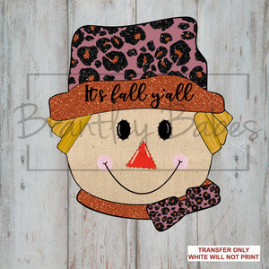 Glitter Leopard Scarecrow Sublimation Transfer