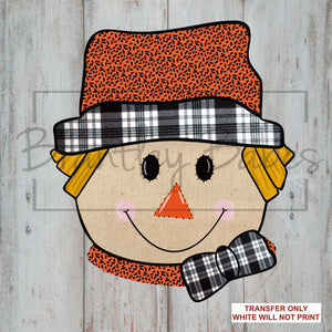 Orange & Plaid Scarecrow Sublimation Transfer