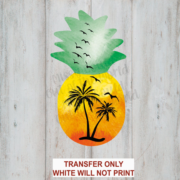 Sunset Pineapple Sublimation Transfer