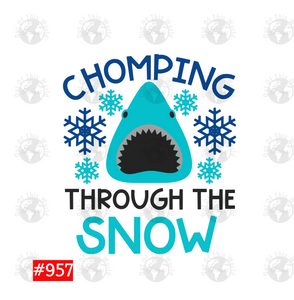 Chomping Through the Snow Shark Sublimation Transfer
