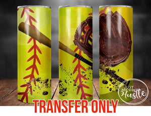 Softball Tumbler Sublimation Transfer
