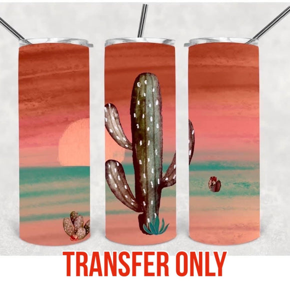Desert Cactus Tumbler Sublimation Transfer