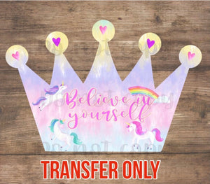 Unicorn Crown Sublimation Transfer