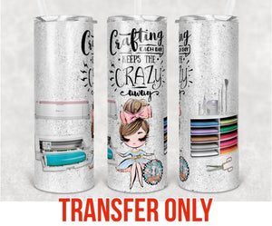 A Craft A Day Tumbler Sublimation Transfer