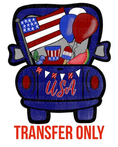 Patriotic USA Truck Sublimation Transfer